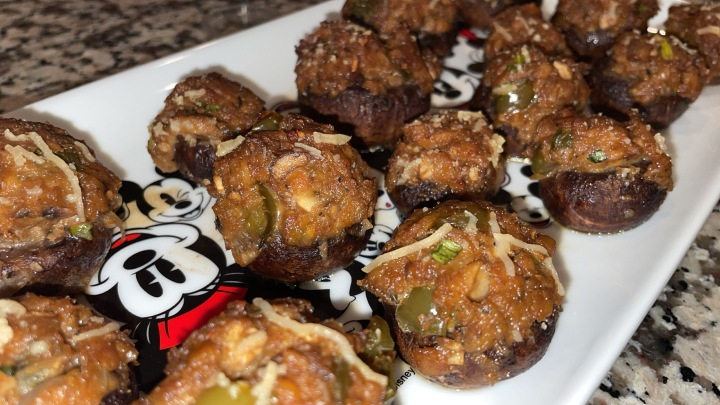 Vegan Tempeh Stuffed Mushrooms